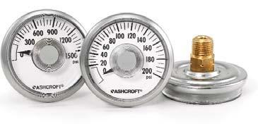 Ashcroft 12DDG & 15DDG Direct Drive Pressure Gauges