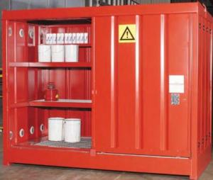 Steel Chemical Store Supplied To TFL & Chemical Store Empteezy Chemstor CS3 Chemical Storage Steel ...