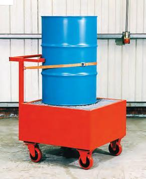 Empteezy Steel Drum Spill Trolley - Steel Spill Containment Drum Trolley