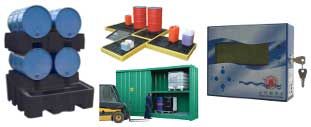 Leak Detection & Flood Prevention from T&D - Spill Containment Pallets & Storage Units