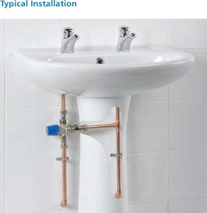 Heatguard LS2 Thermostatic Mixing Valve Typical Installation